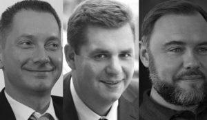 Олександр Третьяков, Гліб Загорій та Борис Ложкін